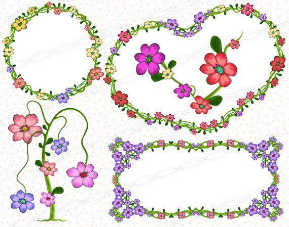 Commercial use floral frames clipart png flower ornaments. https://www.etsy.com/listing/244872063/instant-download-png-flower-frame?ref=shop_home_active_18