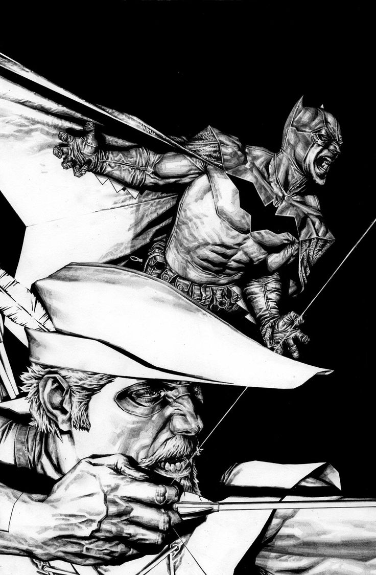 Batman & Green Arrow by Lee Bermejo... Most amazing... just... beautiful