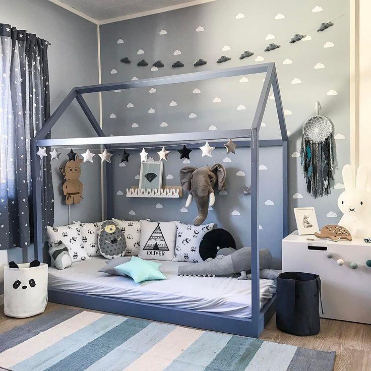 Cama Montessori Cuartos Para Bebes Varones Habitacion