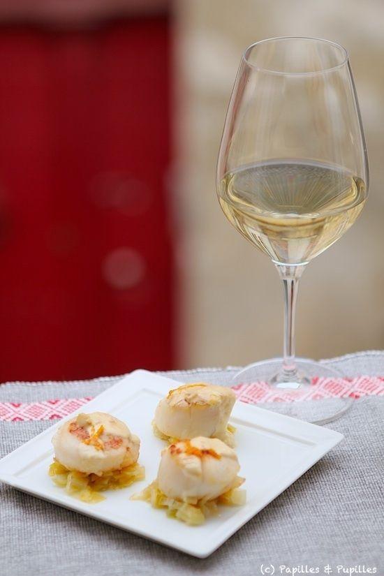 Recette de Saint Jacques sautées, fondue de poireaux et sauce à l'orange