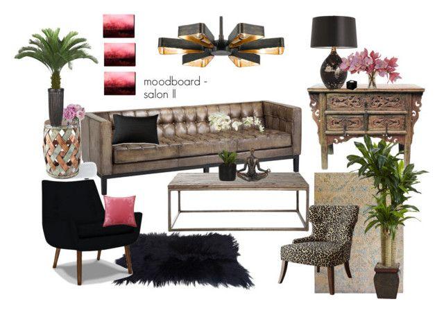 moodboard - salon II by a-filipczak on Polyvore featuring interior, interiors, interior design, dom, home decor, interior decorating, Jonathan Adler, Grandin Road, Universal Lighting and Decor and Arteriors