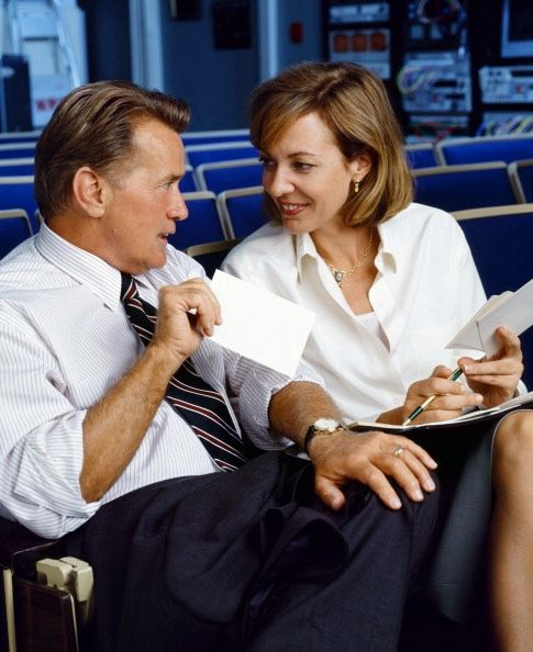 Martin Sheen and Allison Janney
