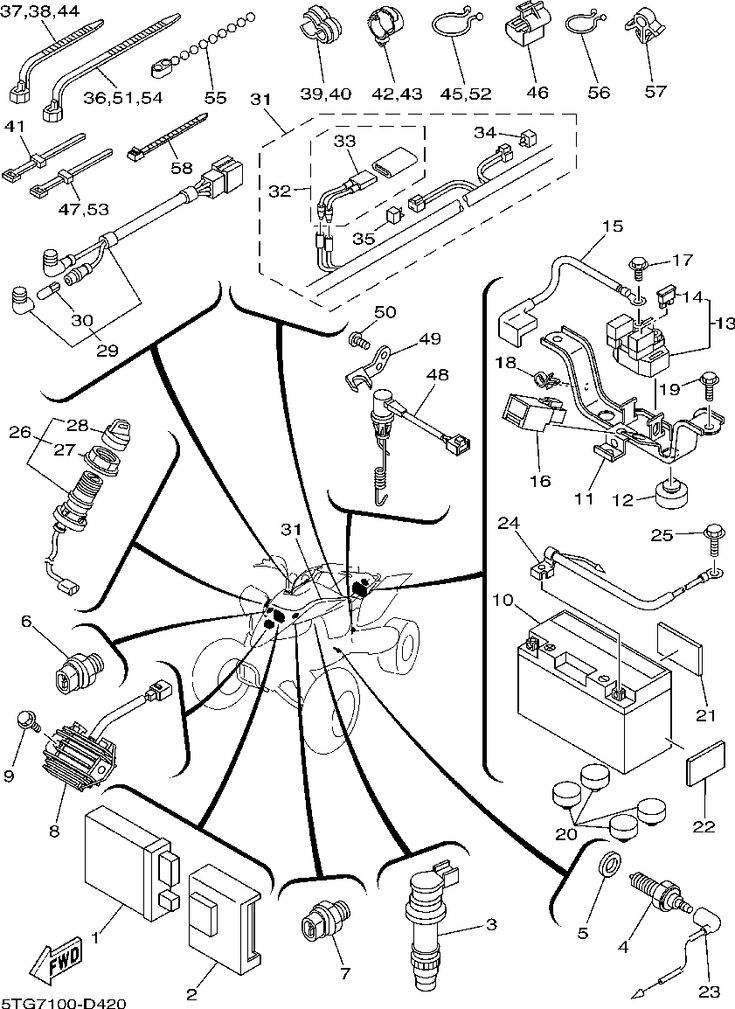 Yamaha Yfz 450 Parts Diagram Wiring With D Electrical 1