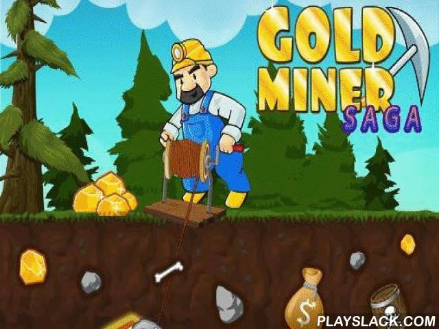 Gold Miner Saga  Android Game - playslack.com , aid a fearless gold miner get as much gold from the extents of the earth as it is accomplishable. Aim your capture at the wealth and resistance it to artifact. In this game for Android you'll be able to get hopeless wealth. To finish each stage get a definite amount of gold or valuable stones. Just tap the screen to capture gold nuggets with your capture. Be mindful and evade hazardous rocks and other hindrances. becautious of bad beasts who…