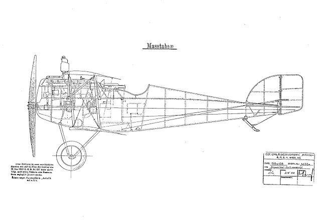 Aviatik D I (Berg) Konstruktionszeichnungen