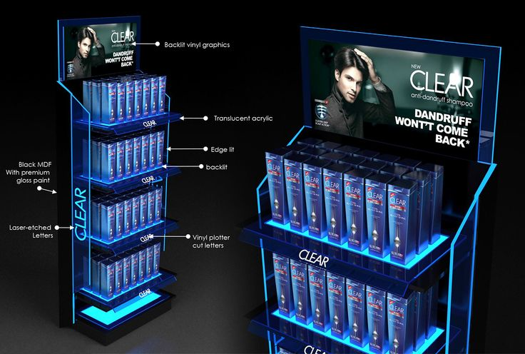 Unilever Clear Floor Standing Unit on Behance