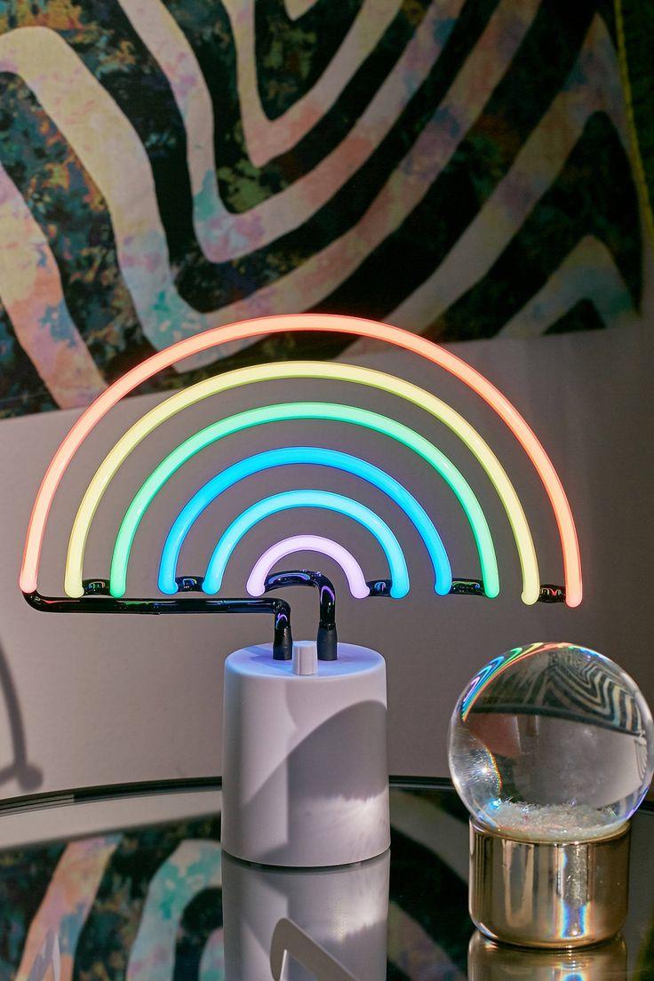 Slide View: 1: Sunnylife Rainbow Neon Table Lamp