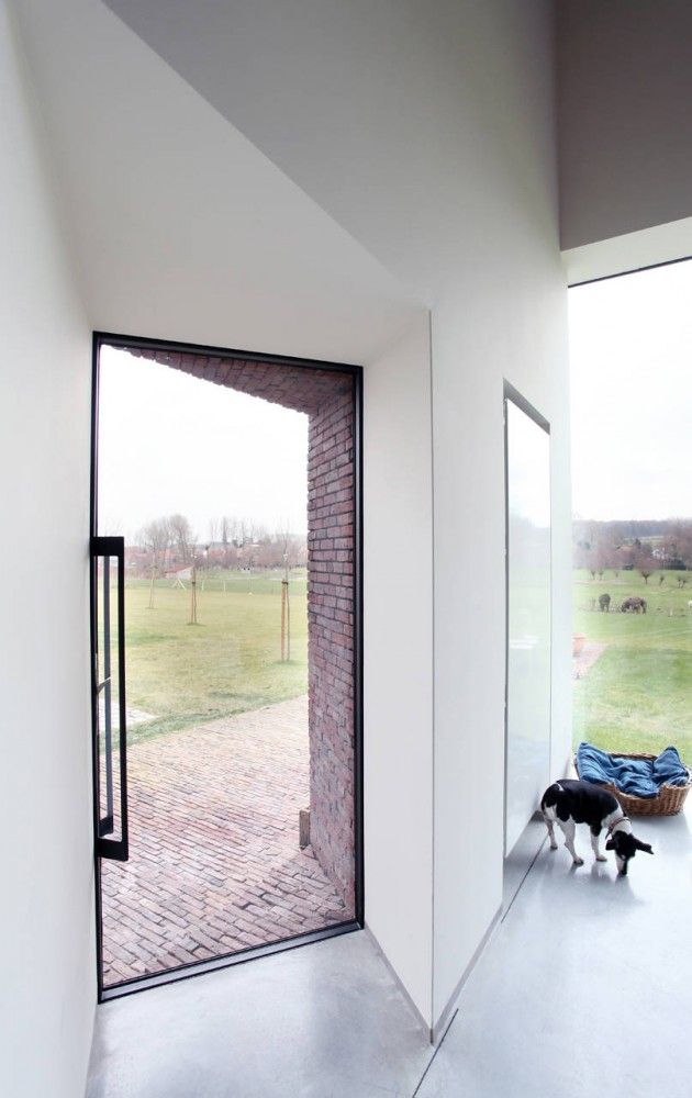 "Lensass Arch.: House DM (""Rabbit Hole""), Gaasbeek (NL), 2012. www.archdaily.com/237163/house-dm-lensass-architects/"