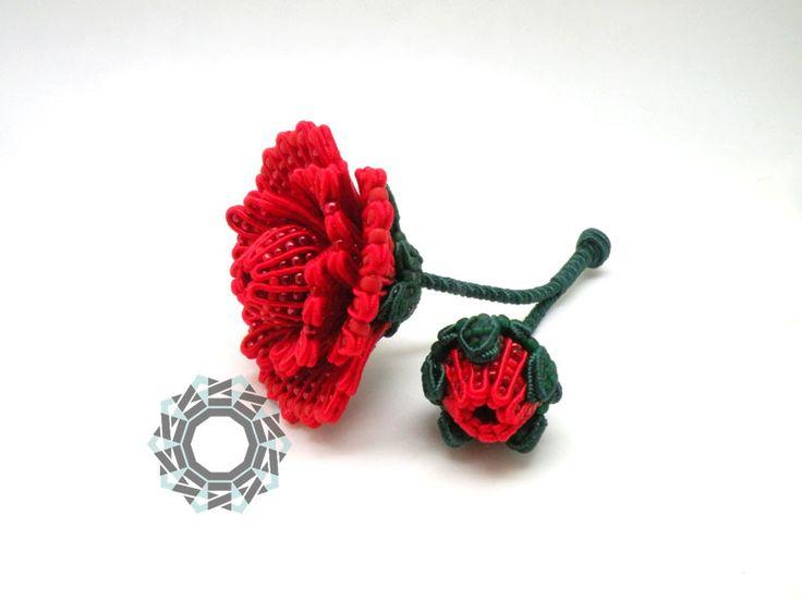 3D soutache flowers, Alina Tyro-Niezgoda Tender December