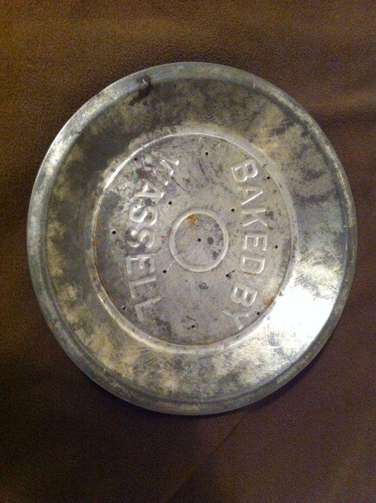 "Antique Pie Pan Pie Plate WASSEL Embossed Advertising 9"" Rare Version"