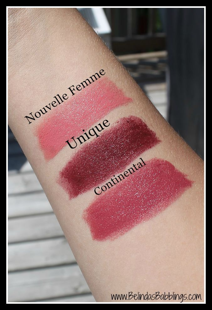 Swatches- Fall 2015 Dior Rouge Lipsticks