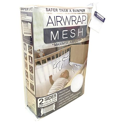 Buy Airwrap Two-Sided Baby Cot Bumper, White Online at johnlewis.com