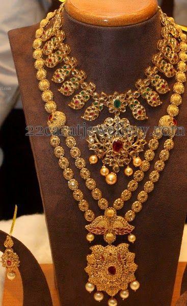 Colorful Mango Set and Uncut Haram | Jewellery Designs