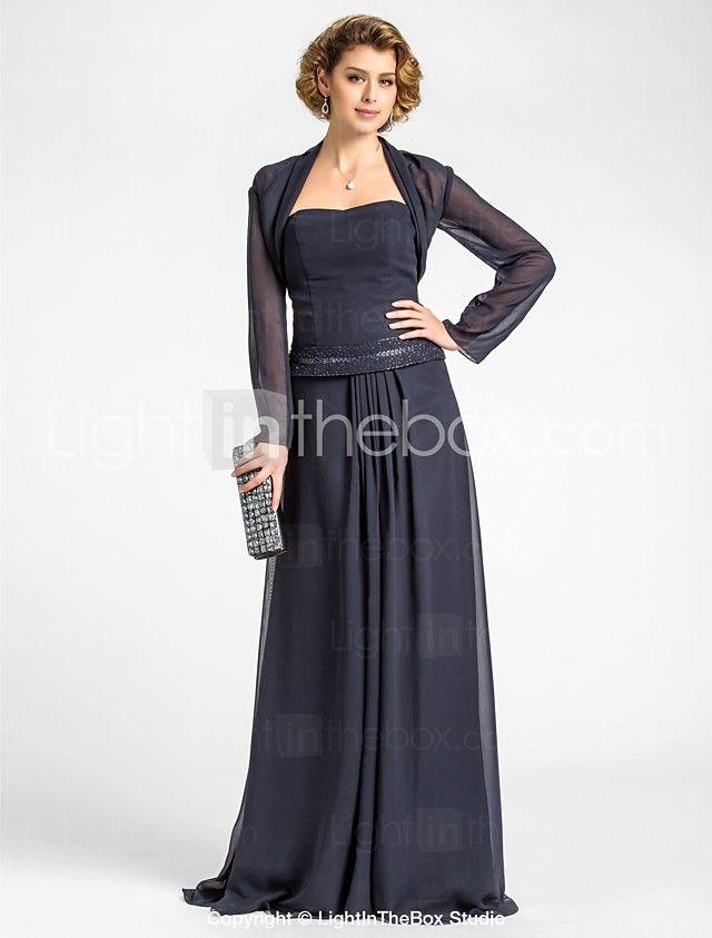 Langes kleid mit rmel elegantes abendkleid 2016 a line for Boden mode preview