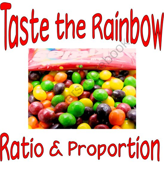 Taste the Rainbow of Ratio and Proportion from StaceyLaw's Shoppe on TeachersNotebook.com - (5 pages) - Hands-On Activity teaching ratio and proportion using Skittles.