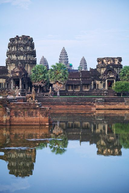 .~Nestled between rice paddies and stretched along the Siem Reap River, the small provincial town of Siem Reap serves as the gateway to the ancient temple ruins of the Khmer Empire~. @adeleburgess
