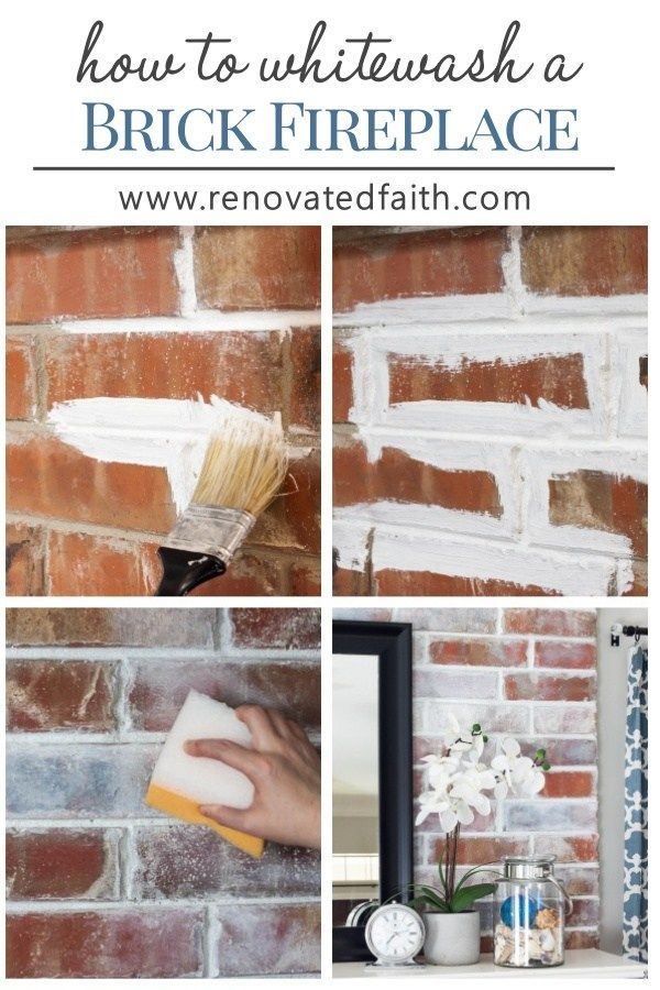 How To Whitewash A Brick Fireplace Faux German Smear With