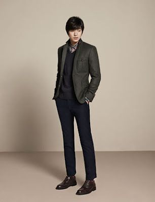 Happiness is not equal for everyone: Lee Min Ho - Trugen Fashion Fall/Winter Collection Part 3 fan of the blue of the pants