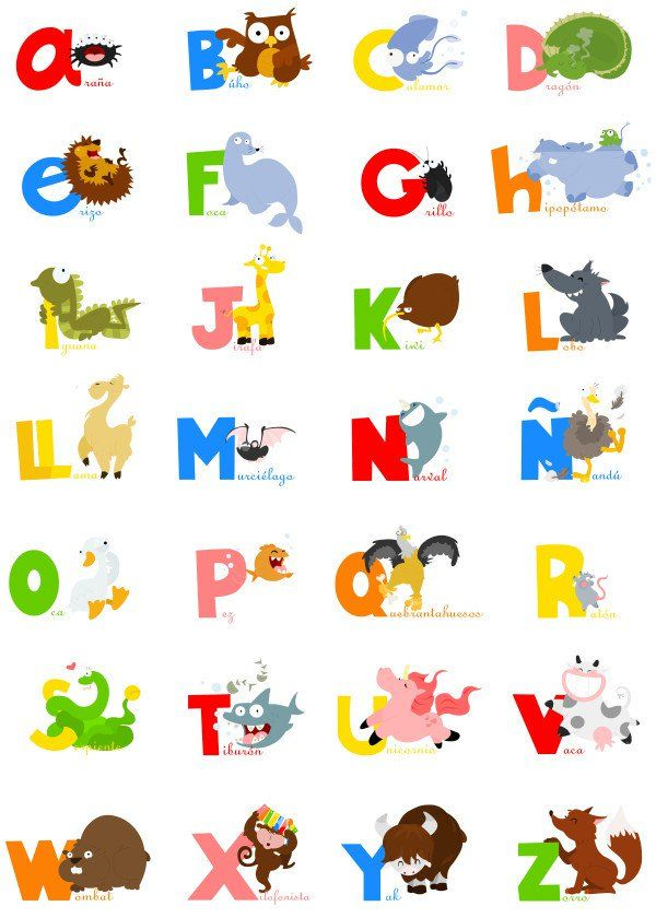 Animalphabet Spanish Spanish Animal Alphabet Animalphabet Spanish Spanish Animal Alphabet Gallery Spanish Alphabet Spanish Teacher Resources Abc Preschool