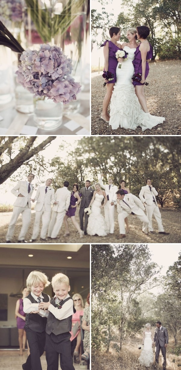 Wedding Color Palette: Purple, Ivory and Grey