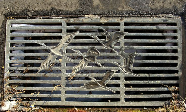 A drain in Kushiro, Hokkaido, which is near crane reserve (Photo by Janne Moran via Flickr Commons)