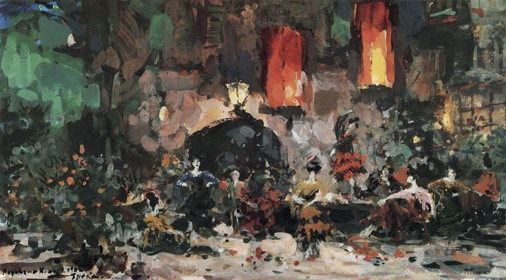 Konstantin Korovin (Russia 1861-1939) The Spanish Tavern (1902) gouache on paper Tretyakov
