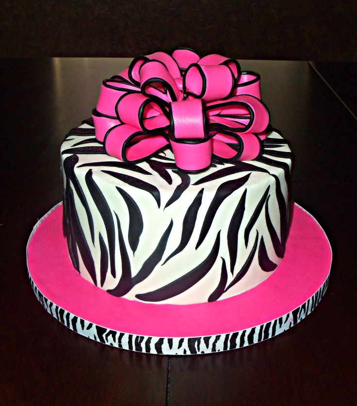 21 Birthday Cake Zebra Print Pink And Black Zebra And
