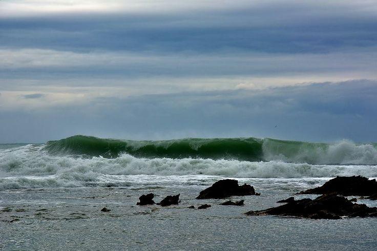 Sardegna-Is Arutas il mare in tempesta.La Sfinge del Sinis