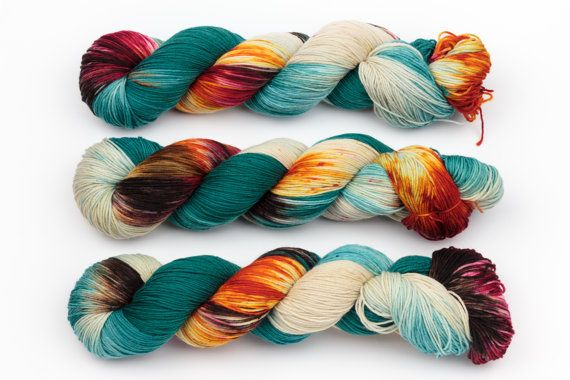 shoreditch hand dyed yarn sock yarn fingering by KnitCosmicStrings