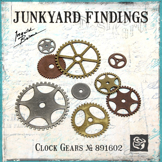 Junkyard Findings by Ingvild Bolme - Prima Clock Gears Metal embellishments