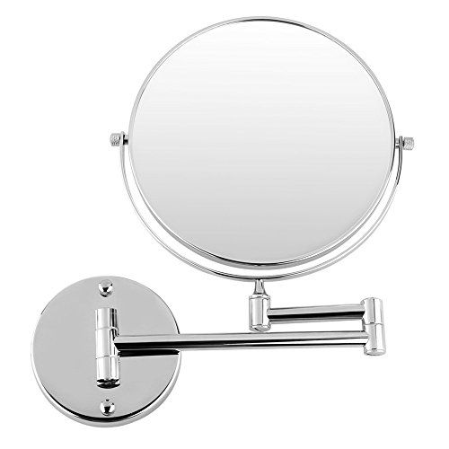 Special Offers - BeGrit Bathroom Makeup Cosmetic Mirror 8 Two-Sided Wall Mount 360 Swivel Extendable with 3x Magnification For Sale - In stock & Free Shipping. You can save more money! Check It (November 13 2016 at 02:34AM) >> http://bathvanitiesusa.net/begrit-bathroom-makeup-cosmetic-mirror-8-two-sided-wall-mount-360-swivel-extendable-with-3x-magnification-for-sale/