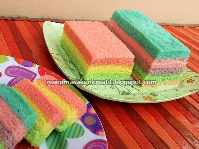 Resep Bolu Kukus Pelangi Santan Lembut Teksturnya Enak Rasanya Kue Pelangi Aneka Kue Makanan