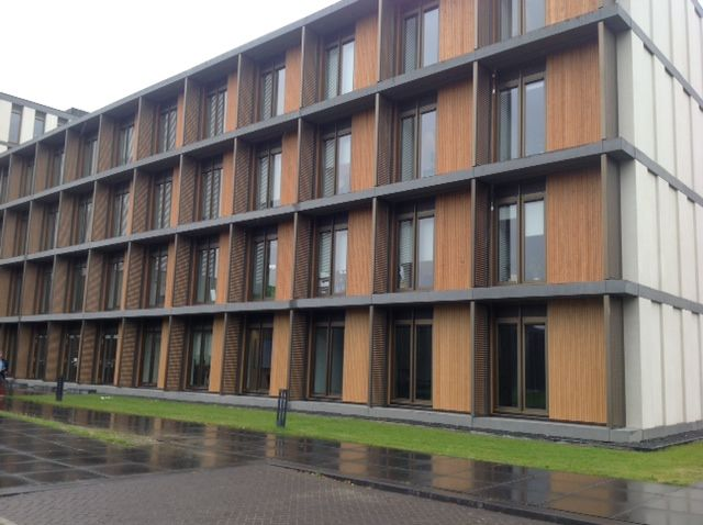 Accoya® Cladding was used for Maastricht University in the Netherlands. #accoya #wood
