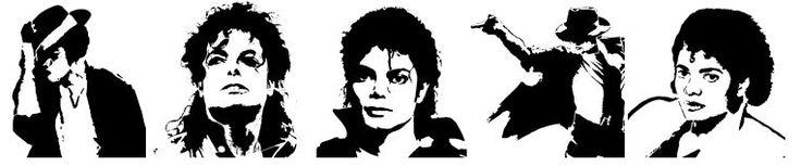 Plantillas de Michael Jackson para Imprimir.Stencil - enrHedando