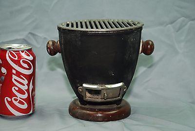 Nice Vintage Konro style Japanese Cast Iron Mini Grill Hibachi BBQ Portable FRS