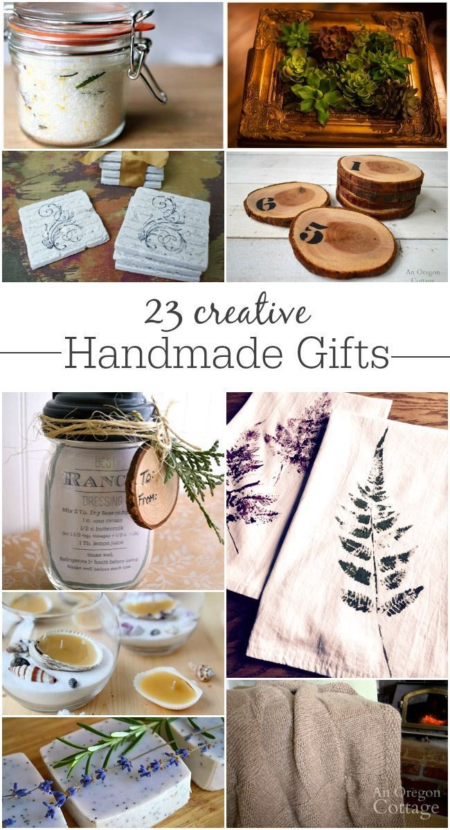 23 creative handmade gifts for all levels of abilities - anyone can make meaningful gifts!