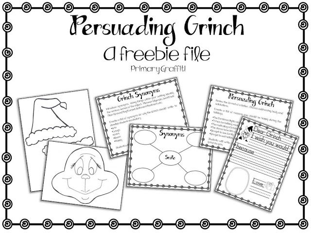 Persuasive writing freebie to use in conjunction with How The Grinch Stole Christmas.