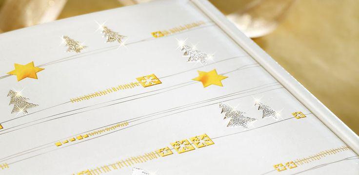 """Geschenkverpackung für Weihnachten """"White Christmas"""" für Wein-, Sekt-, und Mischpräsente."""