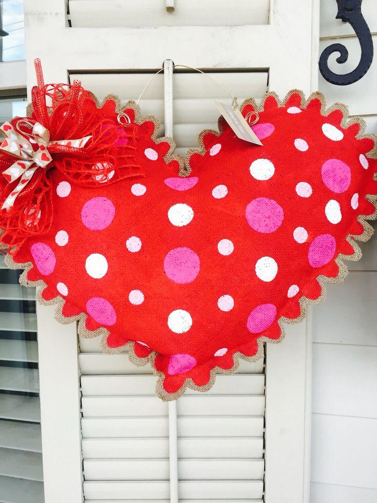 Valentine Burlap Door Hanger & 101 best My Burlap Door Hanger Creations images on Pinterest ... pezcame.com