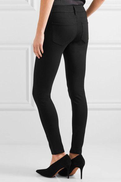 L'Agence - Lou Lou Stretch-ponte Skinny Pants - Black - 26