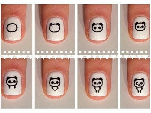 simple nail designs step by step - Google Search