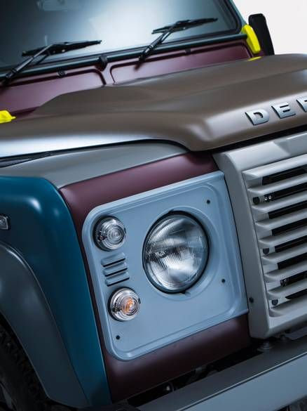 Detail of the Sir Paul Smith Land Rover Defender, commissioned to mark it's last model.