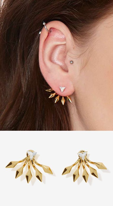 Luv AJ Candy Luxe Howlite Earrings #jewelry: