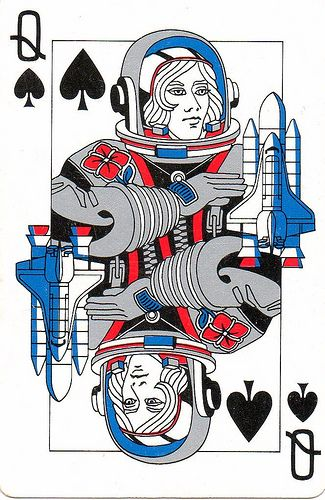 Rockwell International - Playing cards Queen of spades | posted by jimmy tyler