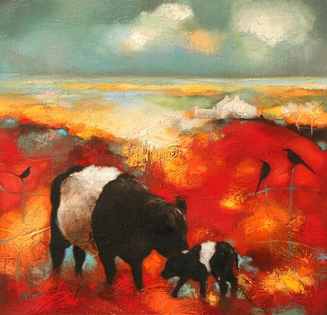 Belted Galloways ~ Scottish artist Lesley McLaren