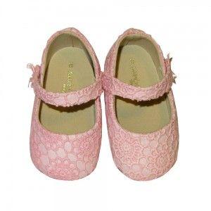 Merceditas bebés sin suela guipur rosa Mayoral