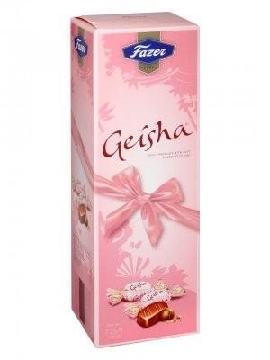 Karl Fazer Geisha w/soft hazelnut filling 775g, ca. 7.5 g/pc = 103 pcs. 109,-