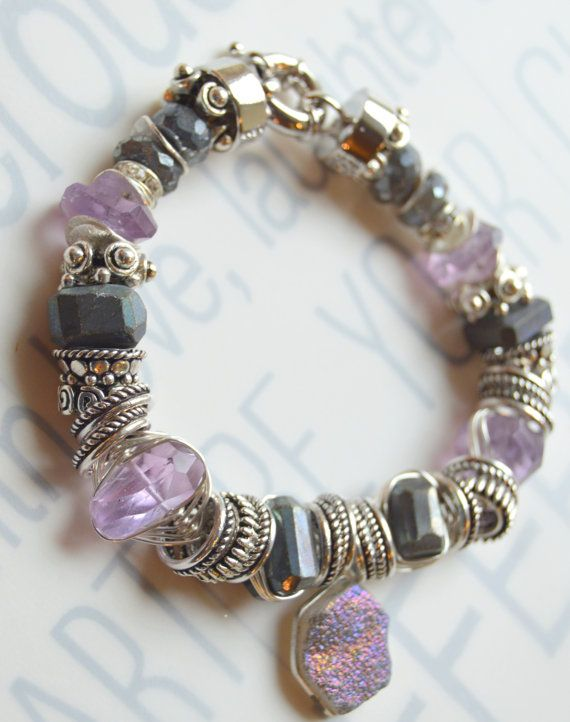 amethyst bracelet artisan bracelet wire wrapped by soulfuledges