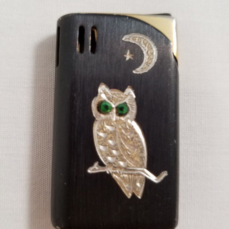 Rare 1970's Ronson lighter with owl carving, plus lots more new items at atomicphenomic.etsy.com