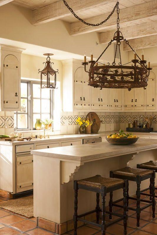 Spanish Revival Kitchen-tabarka studio tile backsplash Cindy